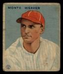 1933 Goudey #111  Monte Weaver  Front Thumbnail