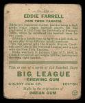 1933 Goudey #148  Eddie Farrell  Back Thumbnail