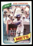 1980 Topps #512  Jose Cardenal  Front Thumbnail