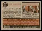 1962 Topps #484  Dick Schofield  Back Thumbnail