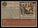 1962 Topps #184 GRN Haywood Sullivan  Back Thumbnail