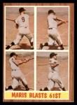 1962 Topps #313   -  Roger Maris Blasts 61st HR Front Thumbnail