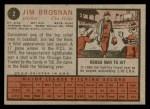 1962 Topps #2  Jim Brosnan  Back Thumbnail