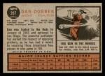 1962 Topps #267  Dan Dobbek  Back Thumbnail