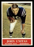 1964 Philadelphia #12  Johnny Unitas  Front Thumbnail
