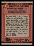 1990 Topps #88  Jerome Brown  Back Thumbnail