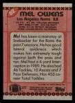1990 Topps #82  Mel Owens  Back Thumbnail