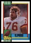1990 Topps #134  Ed Simmons  Front Thumbnail