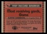 1990 Topps #2   -  Flipper Anderson Record Breaker Back Thumbnail