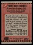 1990 Topps #147  Keith Woodside  Back Thumbnail