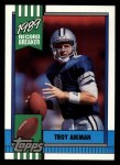 1990 Topps #3   -  Troy Aikman Record Breaker Front Thumbnail