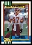 1990 Topps #124  A.J. Johnson  Front Thumbnail