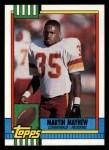 1990 Topps #130  Martin Mayhew  Front Thumbnail