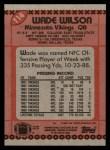 1990 Topps #114  Wade Wilson  Back Thumbnail