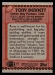 1990 Topps #138  Tony Bennett  Back Thumbnail