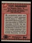 1990 Topps #70  Tom Newberry  Back Thumbnail