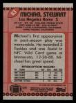 1990 Topps #83  Michael Stewart  Back Thumbnail