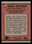 1990 Topps #143  Rich Moran  Back Thumbnail