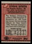 1990 Topps #283  Steve Smith  Back Thumbnail