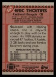 1990 Topps #265  Eric Thomas  Back Thumbnail