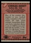 1990 Topps #208  Cornelius Bennett  Back Thumbnail