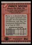 1990 Topps #246  Percy Snow  Back Thumbnail