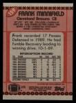 1990 Topps #159  Frank Minnifield  Back Thumbnail