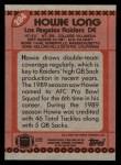 1990 Topps #284  Howie Long  Back Thumbnail