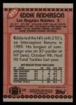 1990 Topps #293  Eddie Anderson  Back Thumbnail