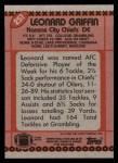 1990 Topps #251  Leonard Griffin  Back Thumbnail