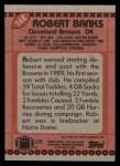1990 Topps #162  Robert Banks  Back Thumbnail