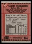 1990 Topps #203  Scott Norwood  Back Thumbnail