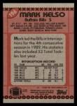 1990 Topps #196  Mark Kelso  Back Thumbnail