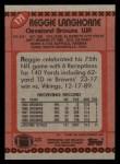 1990 Topps #171  Reggie Langhorne  Back Thumbnail