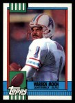 1990 Topps #216  Warren Moon  Front Thumbnail