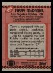 1990 Topps #294  Terry McDaniel  Back Thumbnail