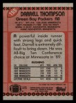1990 Topps #155  Darrell Thompson  Back Thumbnail