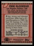 1990 Topps #280  Mike Alexander  Back Thumbnail