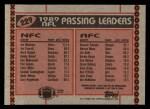 1990 Topps #229   -  Joe Montana / B.Esiason Passing Leaders Back Thumbnail