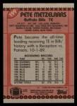 1990 Topps #199  Pete Metzelaars  Back Thumbnail