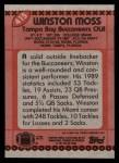 1990 Topps #415  Winston Moss  Back Thumbnail