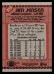 1990 Topps #333  Jim Jensen  Back Thumbnail