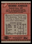 1990 Topps #350  Richard Johnson  Back Thumbnail