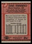 1990 Topps #323  Dan Marino  Back Thumbnail