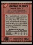 1990 Topps #361  Bennie Blades  Back Thumbnail