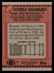 1990 Topps #412  Donald Igwebuike  Back Thumbnail