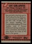1990 Topps #389  Lee Williams  Back Thumbnail
