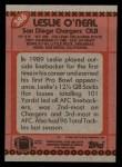 1990 Topps #386  Leslie O'Neal  Back Thumbnail