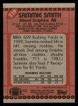 1990 Topps #319  Sammie Smith  Back Thumbnail