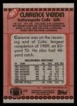 1990 Topps #307  Clarence Verdin  Back Thumbnail